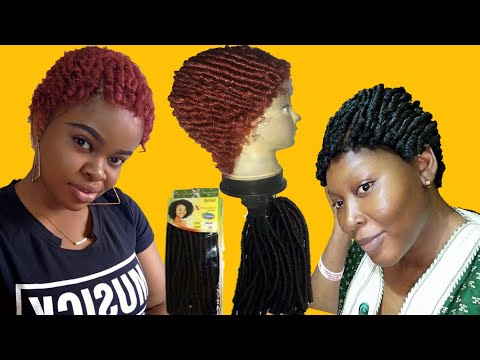 How to make straw curl wig using expression multi crochet hair