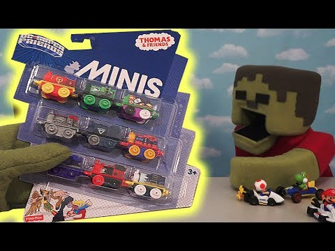 Thomas & Friends MINIS DC Super Friends Mighty Mash Up Trains Gift Pack Unboxing Zombie Steve