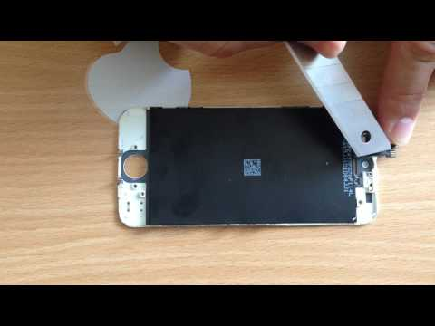 как убрать белые пятна на дисплее Iphone 4,4s,5,5s,6