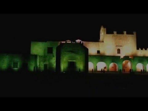 noches de luz y sonido ex convento de Sisal Valladolid yucatan