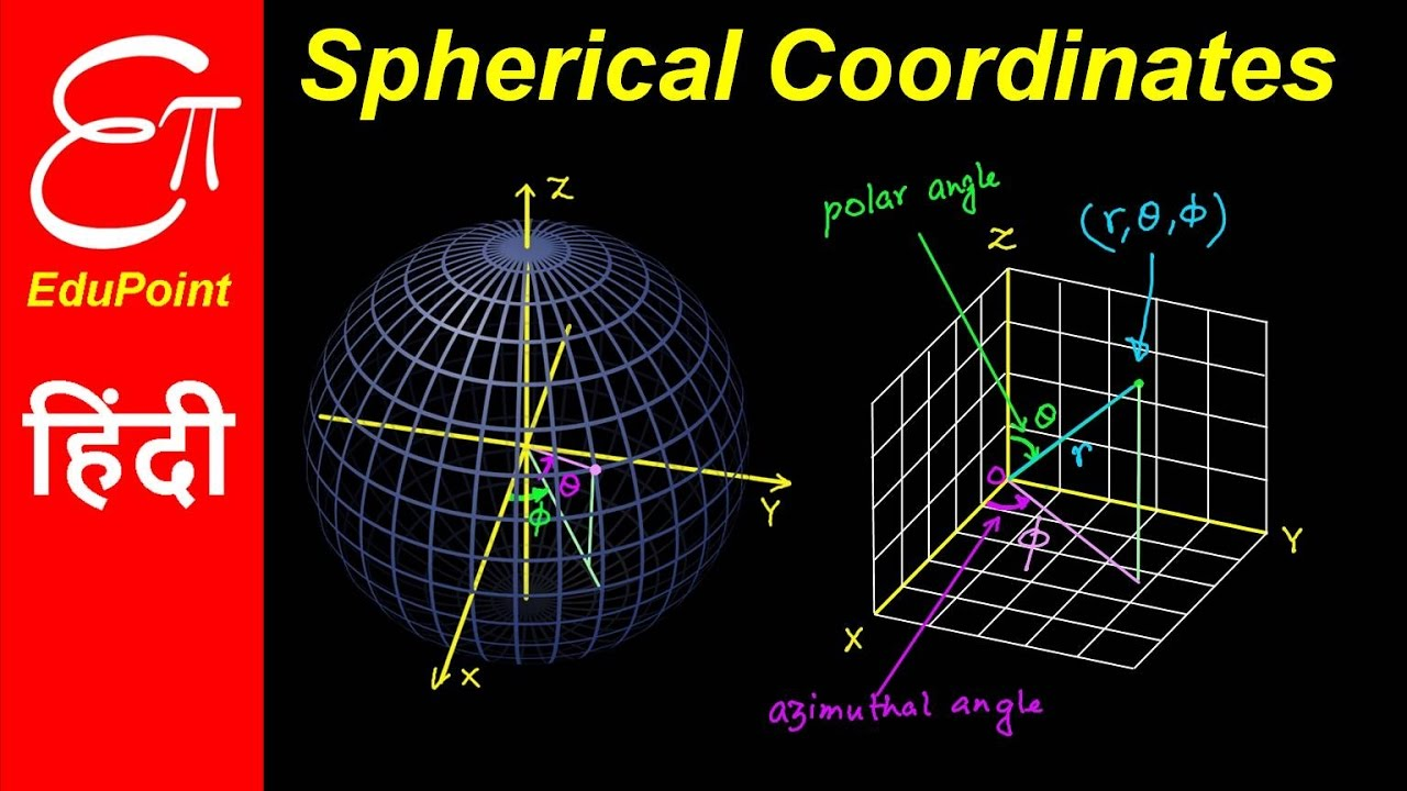 Spherical Coordinate System  U2605 Video In Hindi  U2605 Edupoint