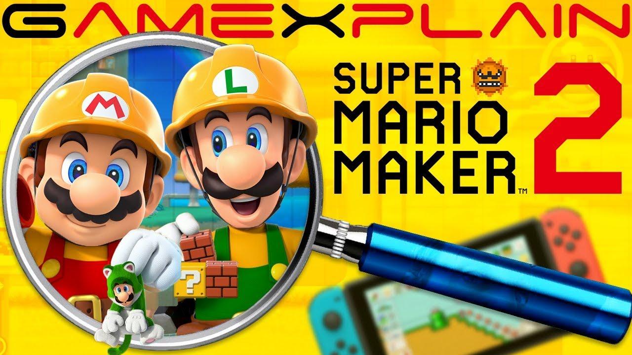 Super Mario Maker 2 ULTIMATE ANALYSIS - Reveal Trailer (Secrets & Hidden  Details)