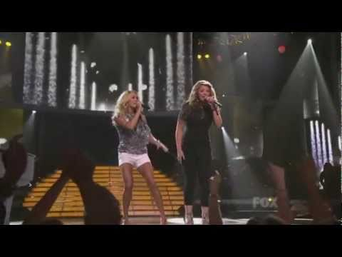 Carrie Underwood and Lauren Alaina on American Idol finale - Before He cheats