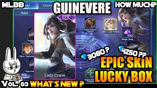 GUINEVERE EPIC LUCKY BOX - LADY CRANE - MOBILE LEGENDS WHAT'S NEW? VOL. 63