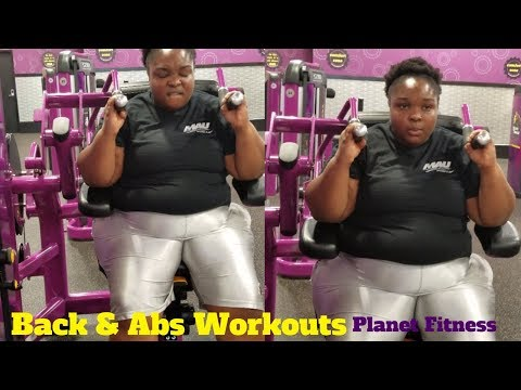 Working out Abs, Back, and Arms | Planet Fitness | Weight-Loss Journey