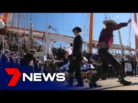 Five Tall Ships Enter Through Sydney Heads | 7NEWS