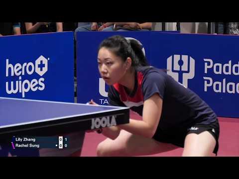 2019 US National Table Tennis Championships - Womens Final - Lily Zhang Vs Rachel Sung (highlights)