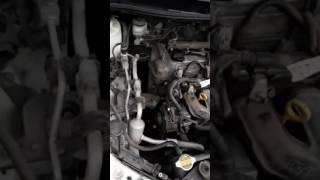Toyota Corolla Fielder1.5 Выявляем откуда шум (запуск с ремнем на холодную)