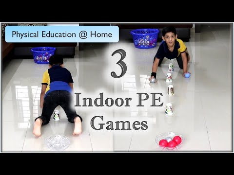 3 Fun physical education games at home   PE games   PE Home Learning   Indoor activities for kids