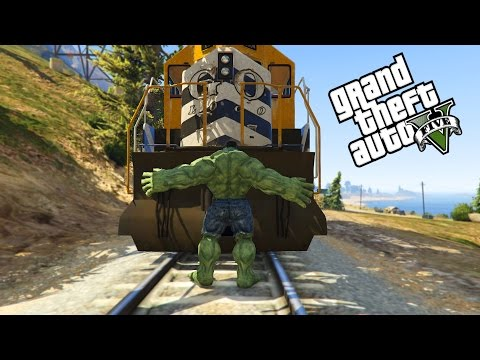 GTA 5 - ULTIMATIVE HULK UND FLASH MOD! HULK VS TRAIN VS FLASH | StandartSkill