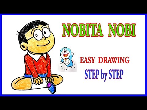 NOBITA-Easy Drawing-Step by Step-ART tutorials for kids and children
