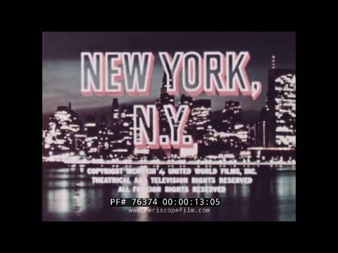 NEW YORK NEW YORK 1960s TRAVELOGUE MOVIE 76374