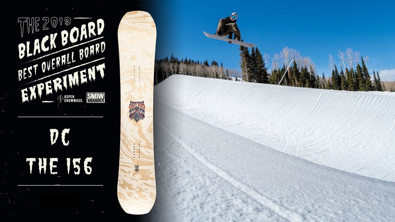 f9e160d3c2f1 2019 DC The 156 Snowboard Review—The Blackboard Experiment with Pat Moore