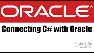 how to connect C# with Oracle database