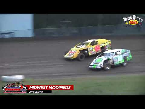 WISSOTA Midwest Modified Highlights - River Cities Speedway - June 29, 2018