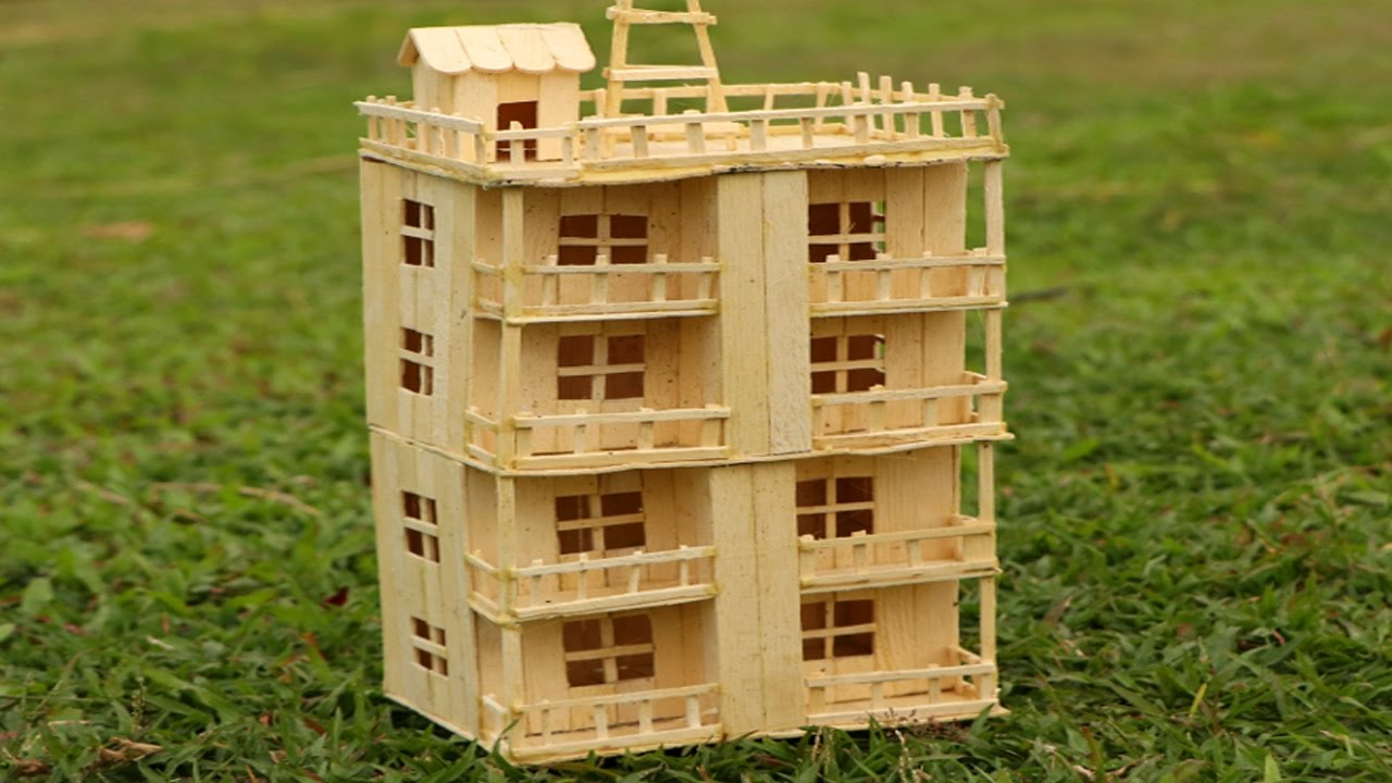 How To Make Popsicle Stick House Building Popsicle