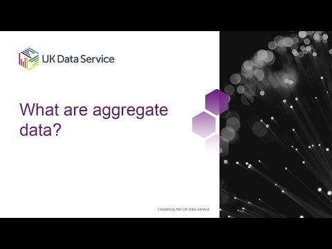 Data Skills Modules: What are aggregate data?