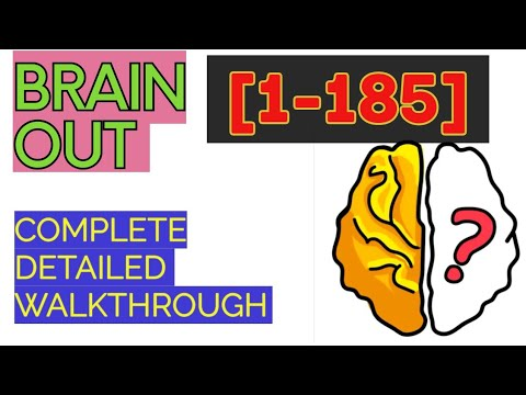 Brain Out Level 1 185 All Level Solutions Youtube