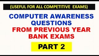 computer awareness questions from previous year bank exams part 2
