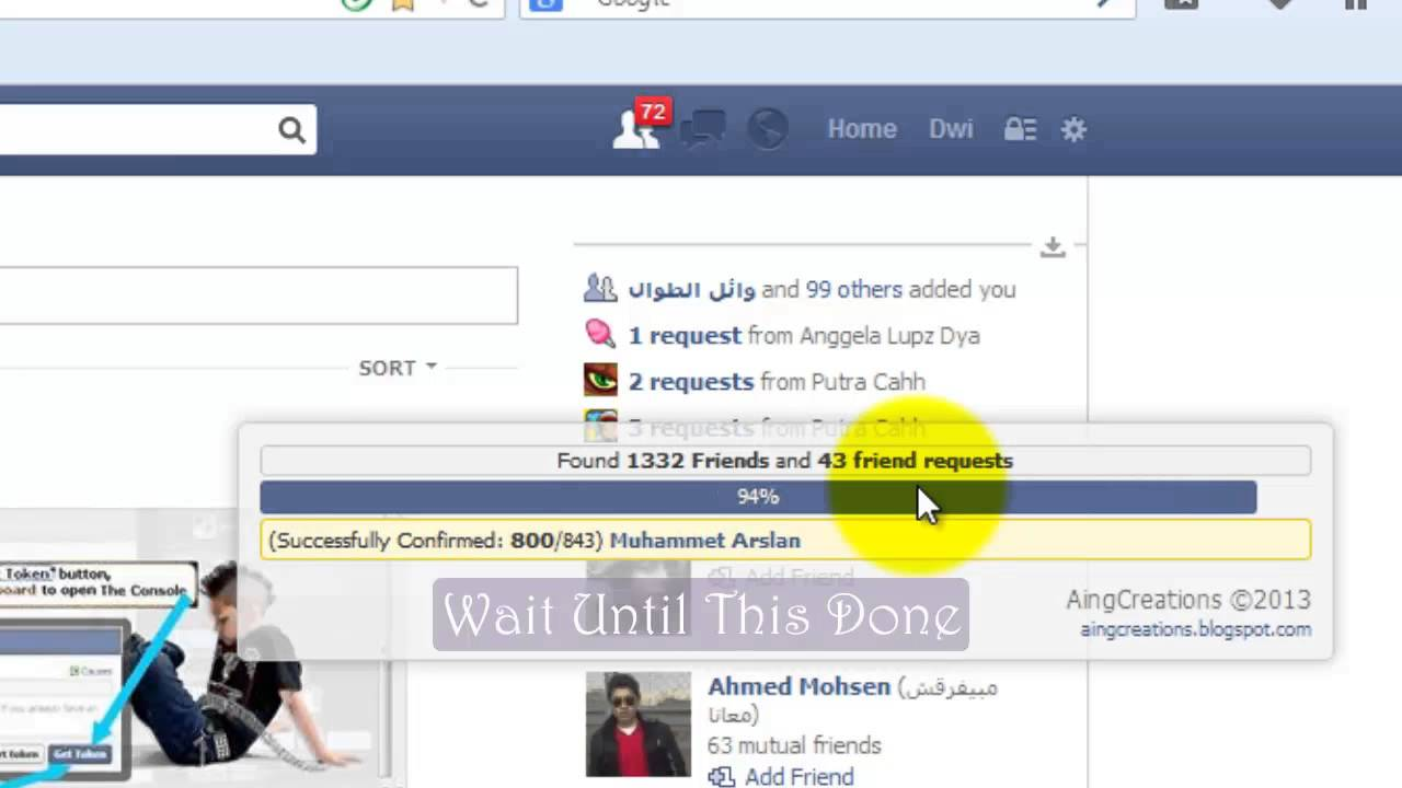 Invite All Facebook Friends to a Group Remove Friends and Confirm