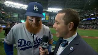 Justin Turner Postgame Interview   Dodgers vs Brewers NLCS Game 2