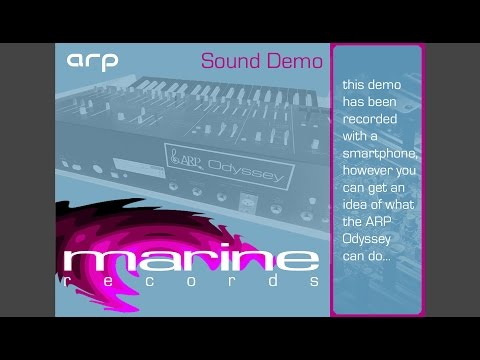ARP Odyssey 2015 sound demo  (marine records)