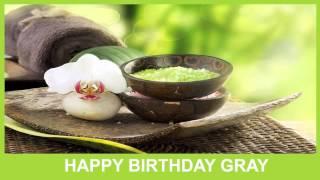 Gray   Birthday Spa - Happy Birthday