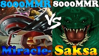 Dota 2 - Miracle- 8000MMR Timbersaw vs Saksa 8000MMR TideHunter - Ranked Match Gameplay