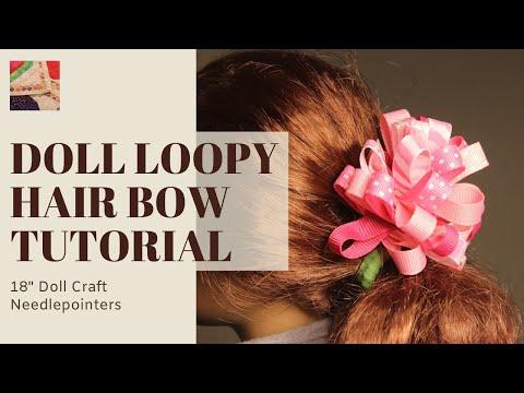 make loopy ribbon hair
