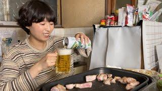 【肩ロース】サムギョプサルでビールゴクゴクプハァー