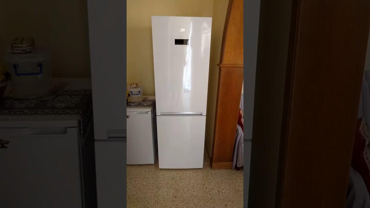 beko frost free fridge-freezer - youtube