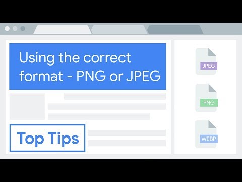 Reduce Image Size: Use The Correct Format — PNG Or JPEG