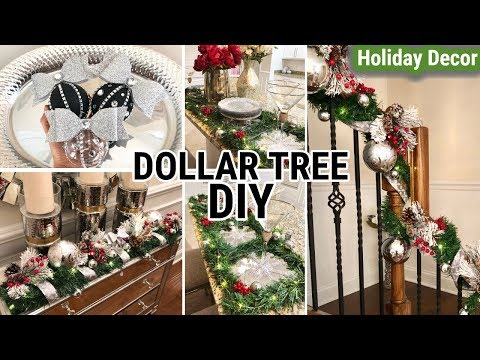 Dollar Tree Christmas DIYS 2018 | DIY Holiday Home Decor Ideas