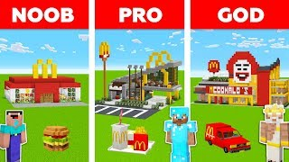 Minecraft Battle: NOOB vs PRO vs GOD: MCDONALD'S in MINECRAFT / Animation