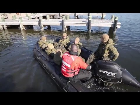 2nd Marine Division Zodiac Boat Training