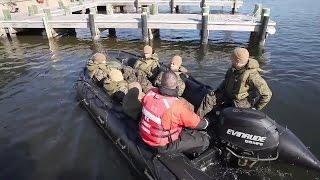 2nd Marine Division Zodiac Boat Training