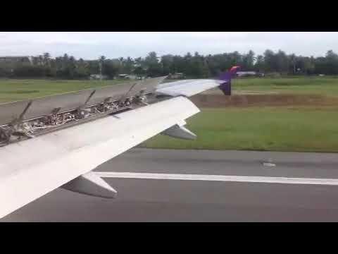 Thai airways BOM to HKT Phuket landing A320-200