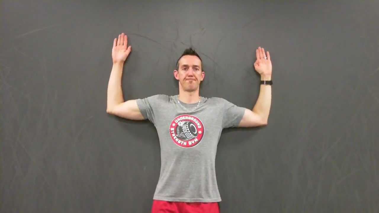 Wall Slides - Awesome Shoulder Mobility - Strength Training For Athletes - YouTube