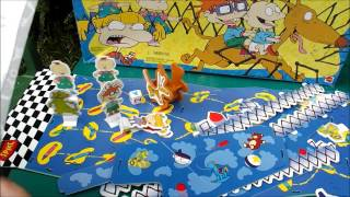 RUGRATS brilliant retro board game bump & bust out 3d game rug rats