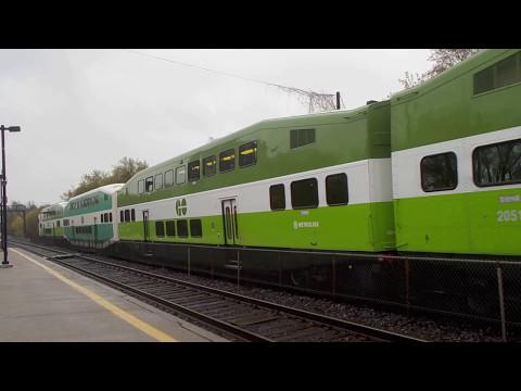 GO Train Departs Long Branch Station