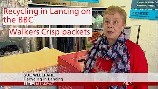 VIDEO:  Recycling in Lancing as seen on TV with Walkers Crisp packets