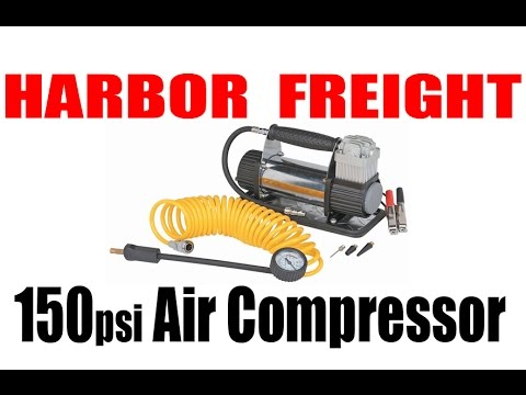 Harbor freight 12volt 150psi air compressor review test youtube sciox Images