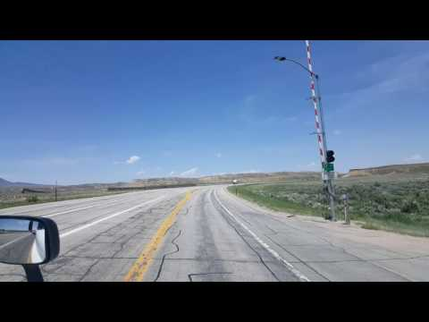 BigRigTravels Classics-US 287 & WY Highway 220 North between Rawlins & Casper, WY-June 10, 2016