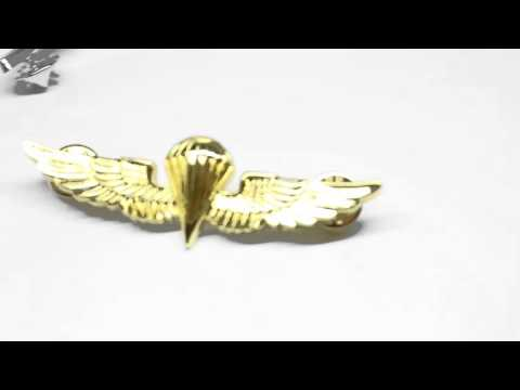 US Army Airforce Paratrooper Wings Insignia Badge Gold Navy Marines