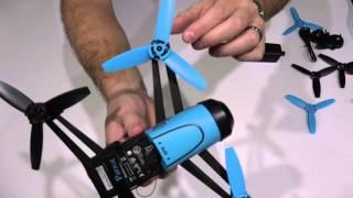 parrot bebop propeller replacement tutorial in 4k ultrahd