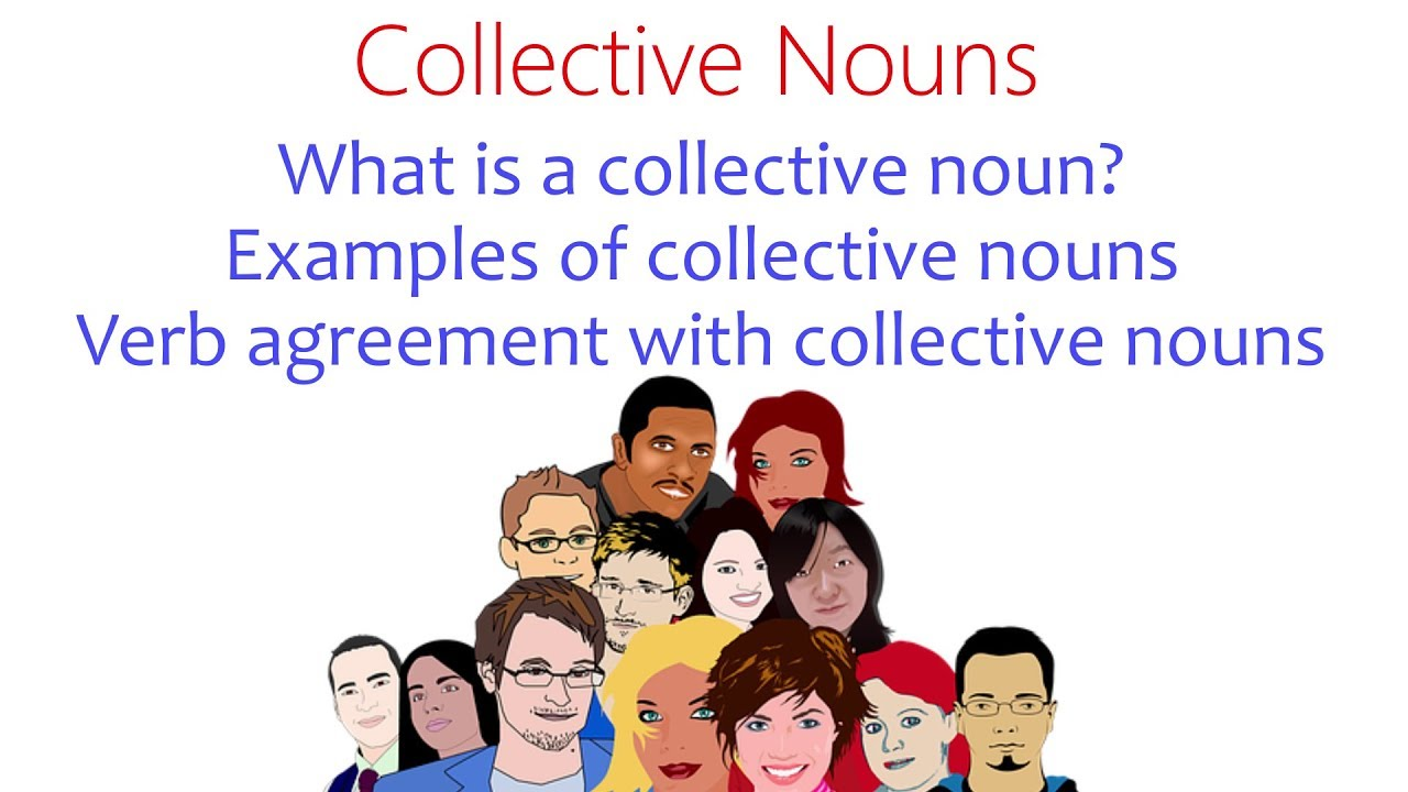 Collective Nouns English Grammar Lessons and Worksheets - YouTube [ 720 x 1280 Pixel ]