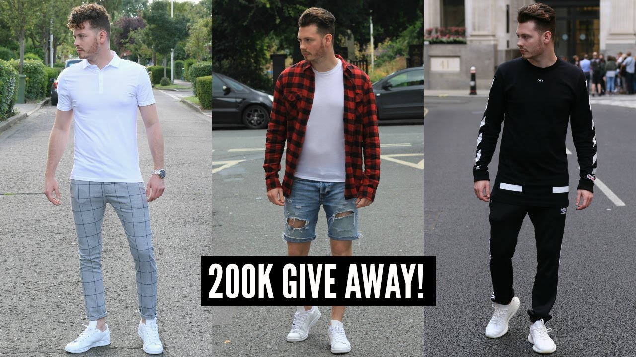 3 SUMMER/FALL STREETWEAR OUTFITS , MENS FASHION LOOKBOOK 2019