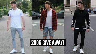 3 SUMMER/FALL STREETWEAR OUTFITS - MENS FASHION LOOKBOOK 2017 (**GIVE AWAY!**)