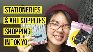 Stationeries & Art Supplies Shopping in Tokyo | Dinda Puspitasari (English & Bahasa Indonesia)