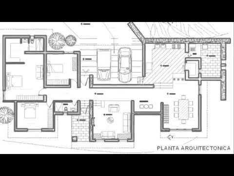 Planos de casas un piso con 3 rec maras youtube for Fachadas de casas de un solo piso